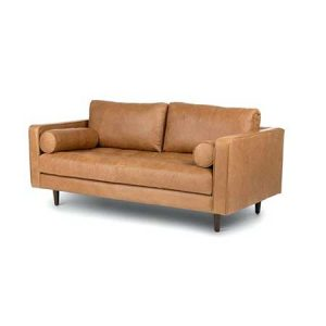 Charme Tan Leather Love Seat for rent in Salt Lake City Utah