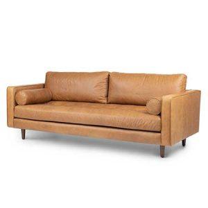Charme Tan Leather Sofa for rent in Salt Lake City Utah