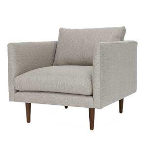 Seasalt Gray Arm chair for rent in Salt Lake City Utah
