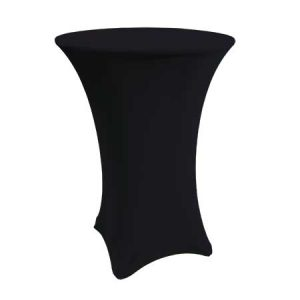 Spandex Black Cabaret Linen for rent in Salt Lake City Utah
