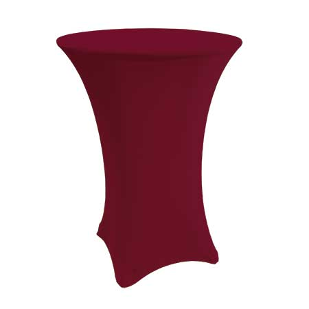 Spandex Burgundy Cabaret Linen for rent in Salt Lake City Utah