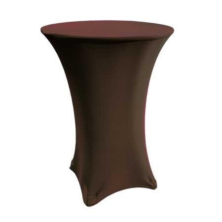 Spandex Chocolate Cabaret Linen for rent in Salt Lake City Utah