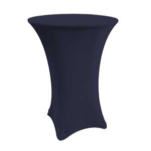 Spandex Navy Cabaret Linen for rent in Salt Lake City Utah