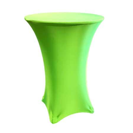 Spandex Neon Green Cabaret Linen for rent in Salt Lake City Utah
