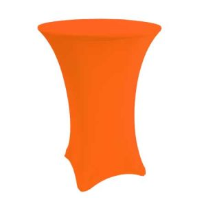 Spandex Neon Orange Cabaret Linen for rent in Salt Lake City Utah
