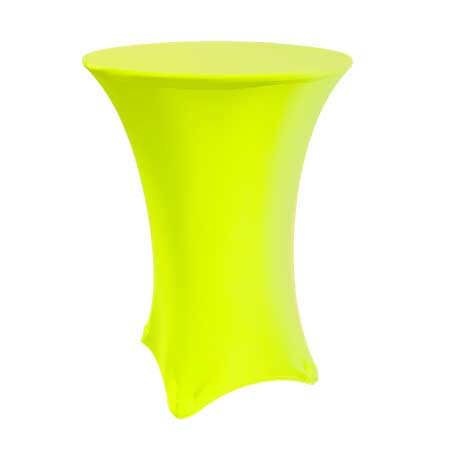 Spandex Neon Yellow Cabaret Linen for rent in Salt Lake City Utah