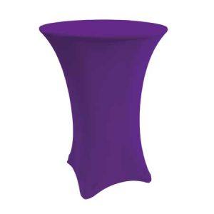 Spandex Purple Cabaret Linen for rent in Salt Lake City Utah