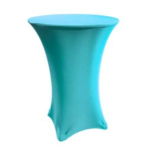 Spandex Turquoise Cabaret Linen for rent in Salt Lake City Utah