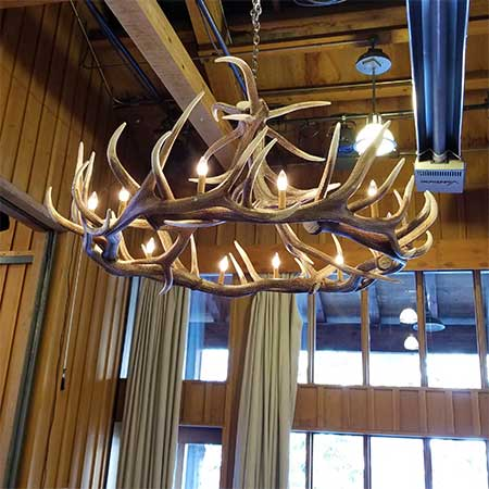 Elk Antler Chandelier for rent in Salt Lake City Utah