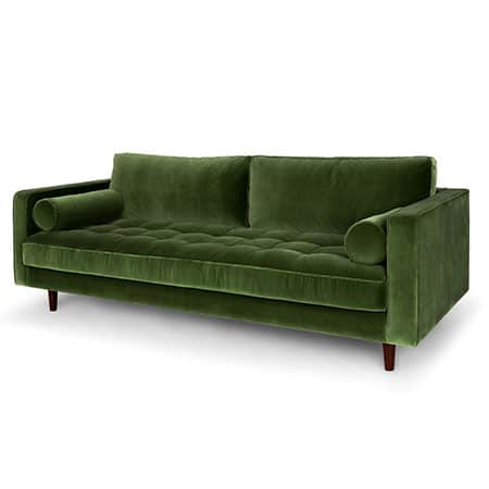 Sven Grass Green Sofa for rent in Salt Lake City Utah