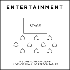 entertainment event seating plan
